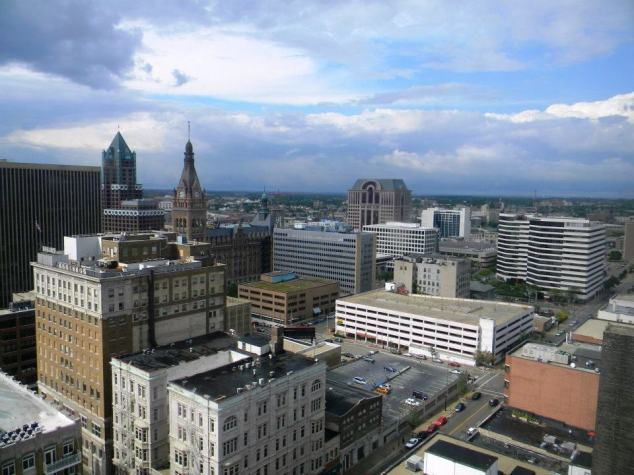 A view of downtown Milwaukee looking Northwest.